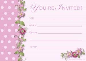 free pink polka dot party invitations http printablepartykits com