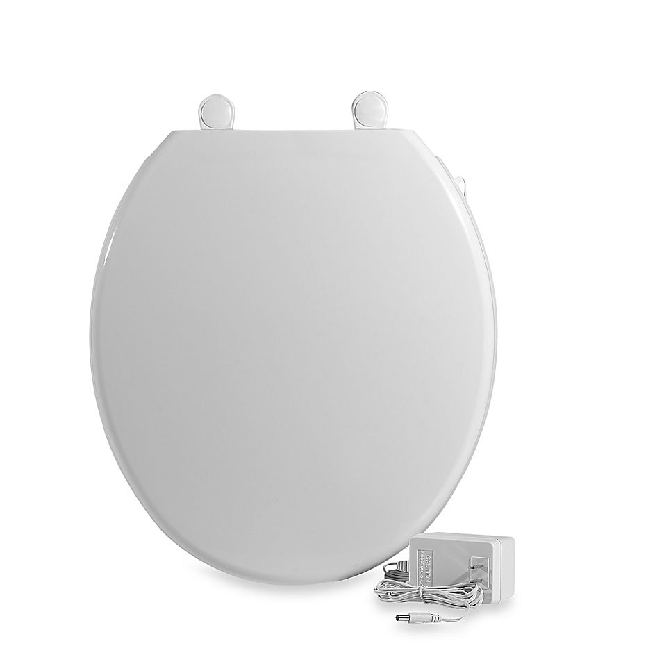 Ultratouch Heated Round Toilet Seat In White Heated