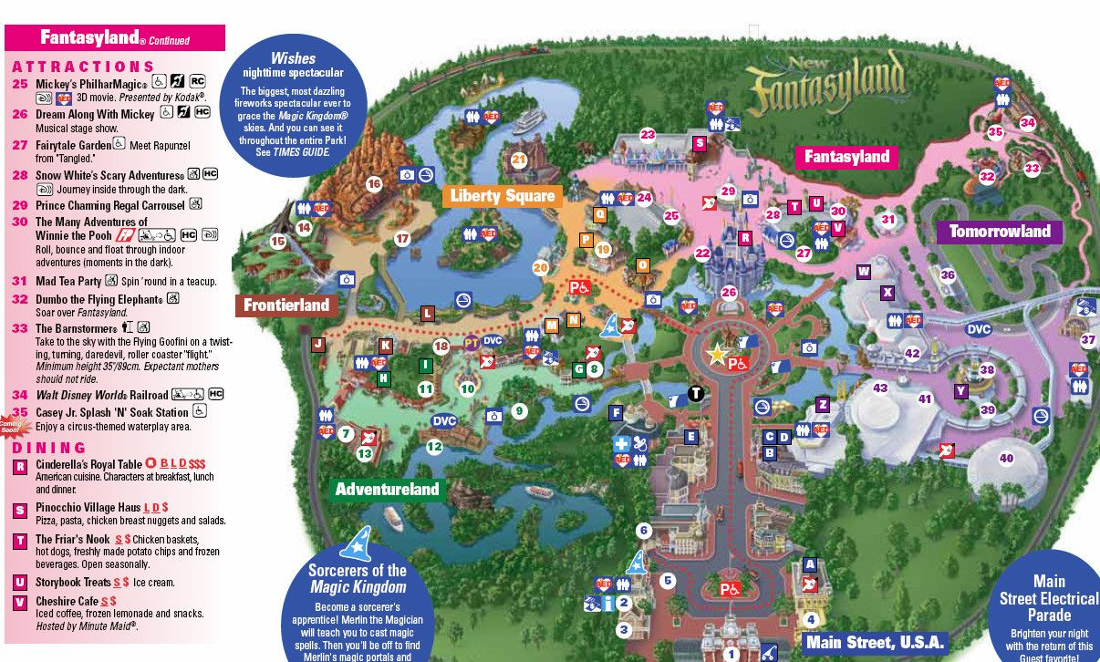 New Magic Kingdom Map Including Storybook Circus For Disney