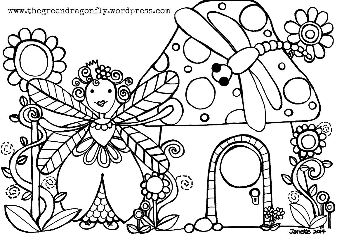 dragonfly-fairy-coloring-page.jpg (JPEG Image, 1154 × 811 pixels ...