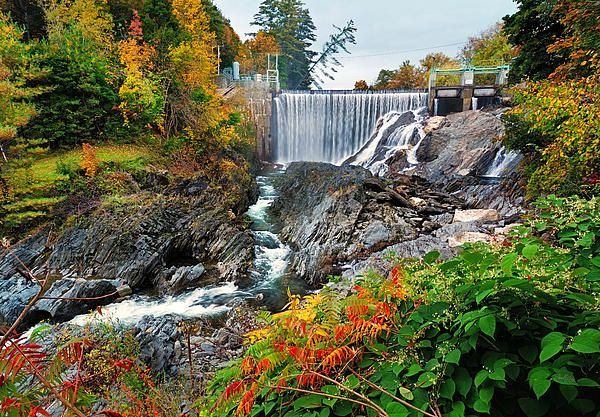 Waits River Dam By Shell Ette Dam Vermont Scenery