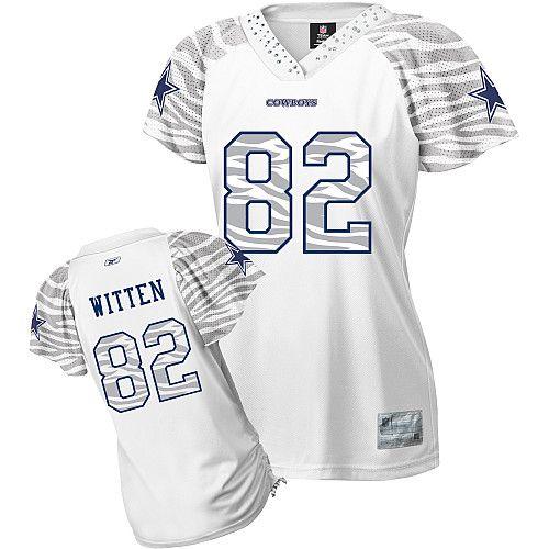 best service ecd8e c83db Reebok Dallas Cowboys Jason Witten Women's Zebra Field Flirt ...