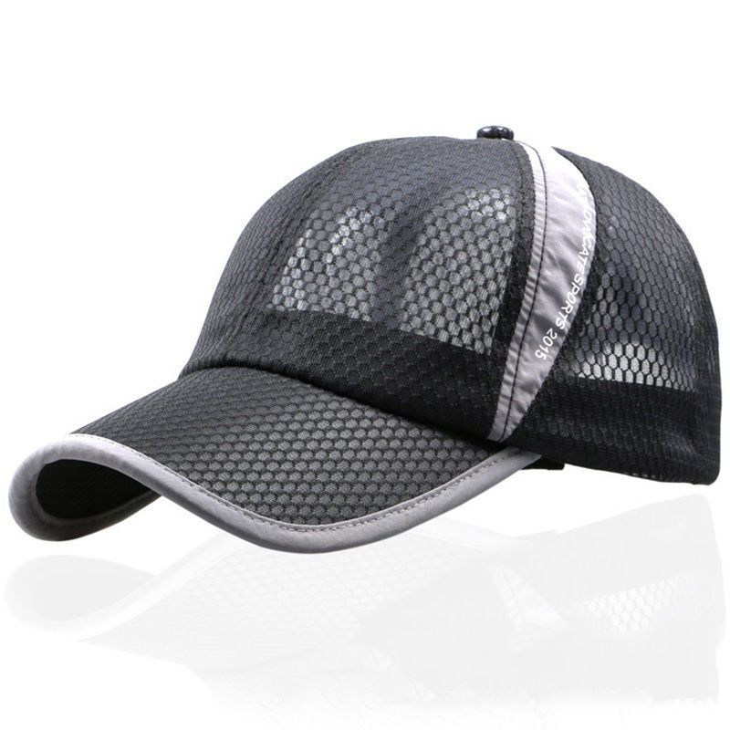 a40bbef8a4e Plain Netted Snapback Fitted Mesh Classic Trucker Baseball Cap Flat Peak Hat