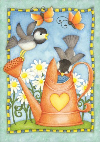 Watering Birds House Flag by Toland Home Garden. $15.99. Decorative Art Flag. Heat sublimated process permanently dyes flag fabric for long-lasting color. Toland Flags are UV, Mildew, and Fade Resistant. Toland Flags are made from durable 600 denier polyester. All Toland Flags are machine washable. Watering Birds Standard Flag 28 by 40