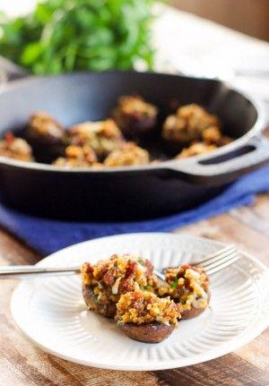 Chorizo-manchego-stuffed mushrooms