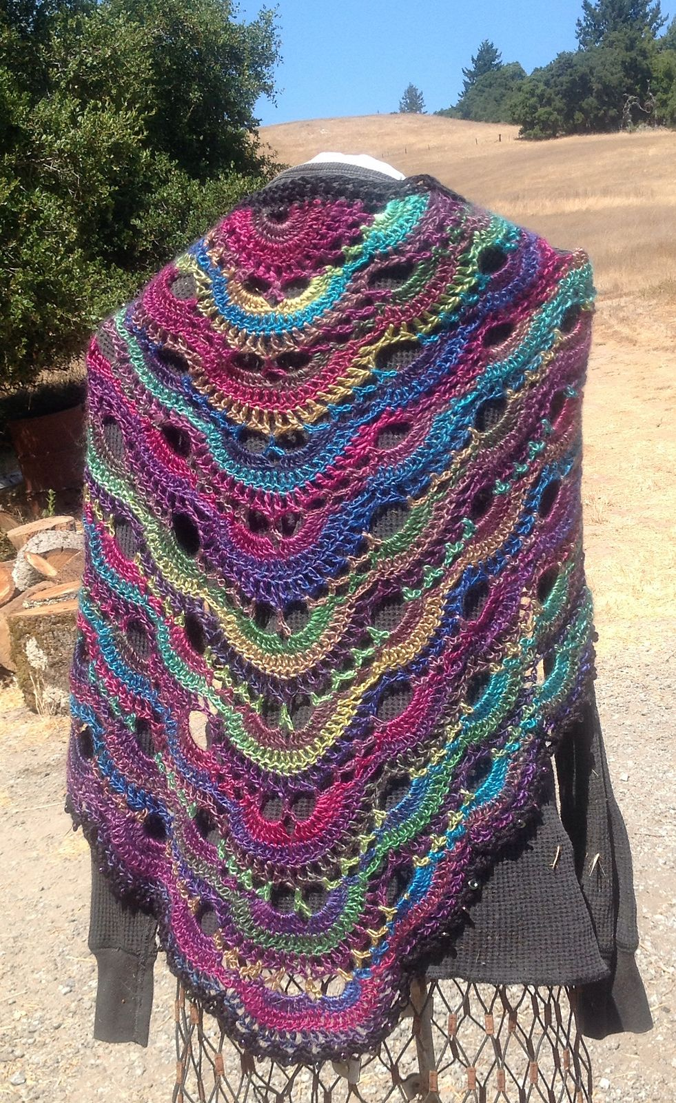 Virus Shawl Virustuch Pattern By Julia Marquardt Knitting