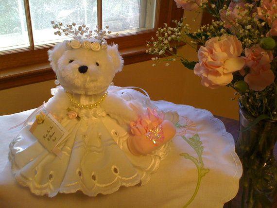 flower girl teddy wedding gift handmade 6 by bearsbymiri