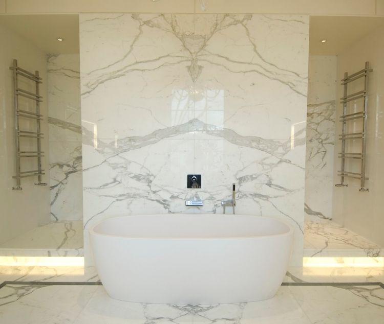 Marmor Bad Weiss Indirekte Led Beleuchtung Stufen Badewanne Badezimmer Innenausstattung Badezimmereinrichtung Tolle Badezimmer