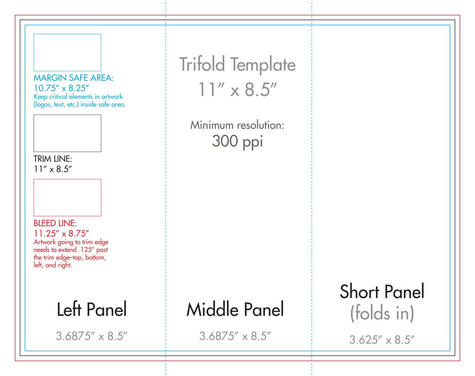 8 5 X 11 Tri Fold Brochure Template U S Press With Regard To Double Sided Tri Fold Brochure Template Brochure Template Trifold Brochure Brochure Folds
