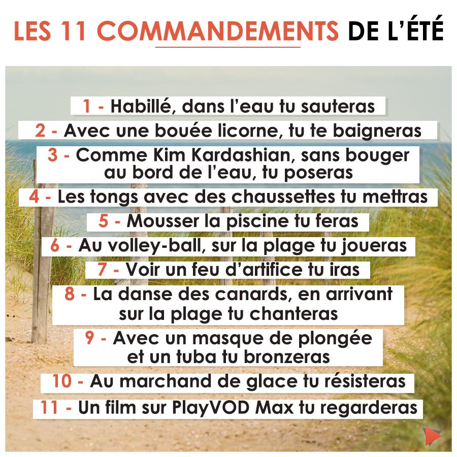 Quelques idées de défis à relever pendant vos vacances ! 😉   Les 11 commandements, Bouée licorne ...