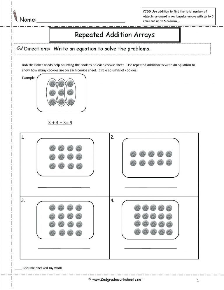 39 Simple First Grade Math Worksheets For You Bacamajalah Array Worksheets First Grade Math Worksheets Printable Math Worksheets