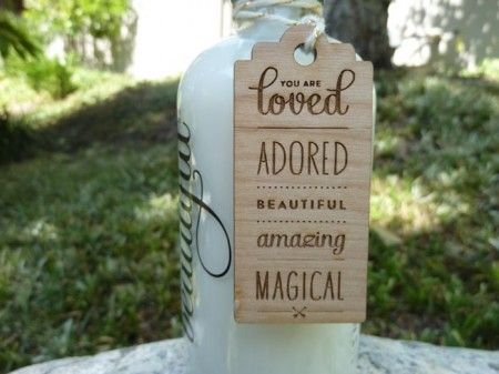 You Are Loved Lotion Tag