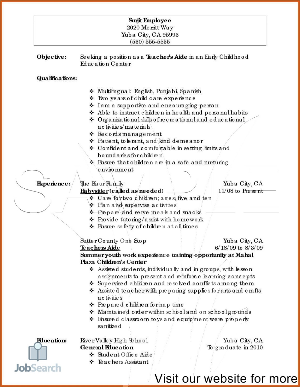 Resume Definition Business Synonym