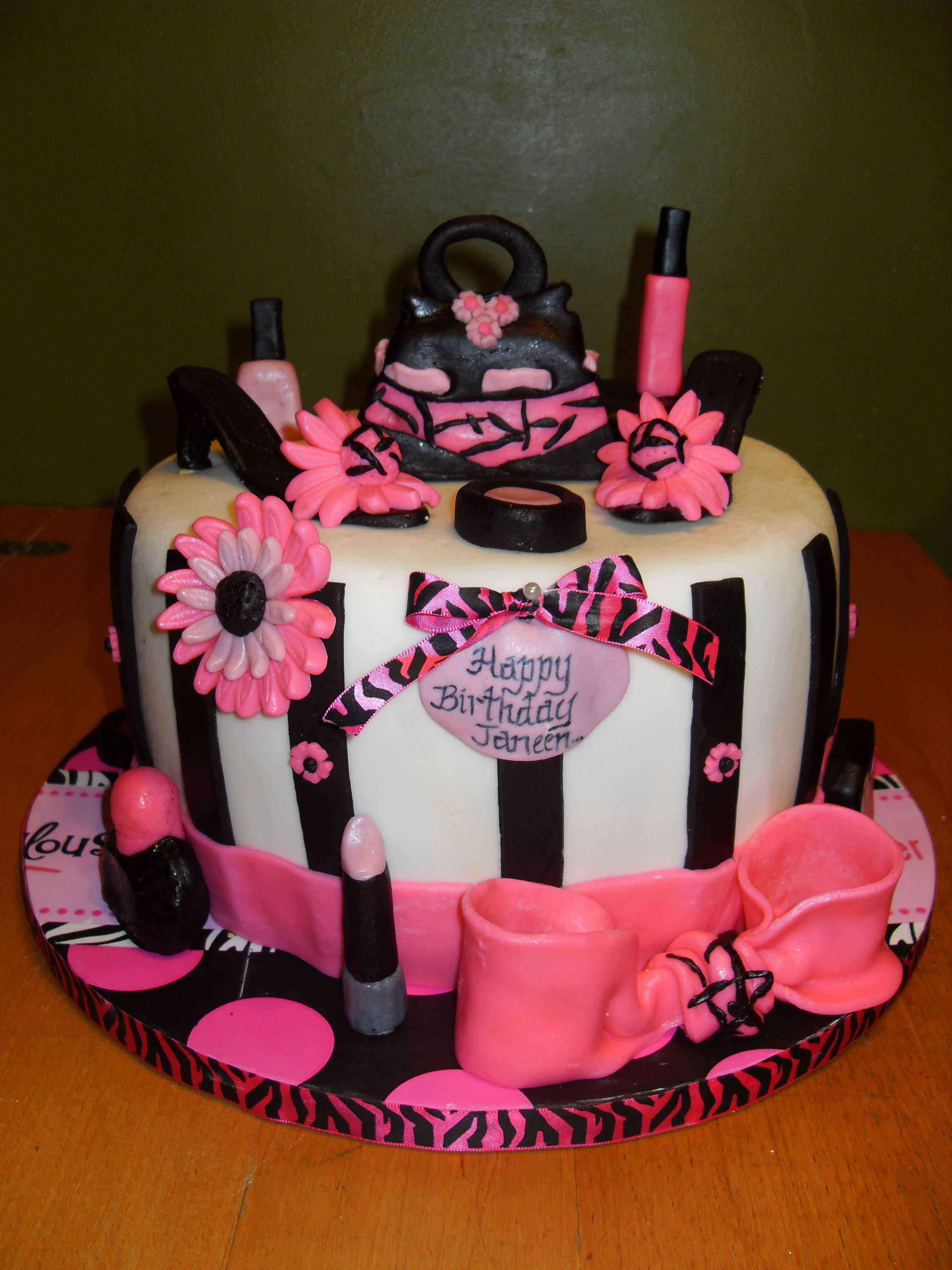 Happy Birthday Shoe And Makeup Cake My All Occasion Cakes