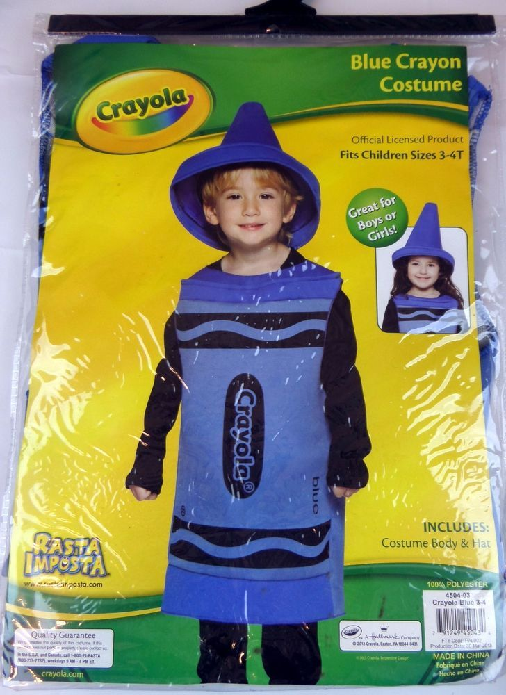 Crayola blue toddler costume