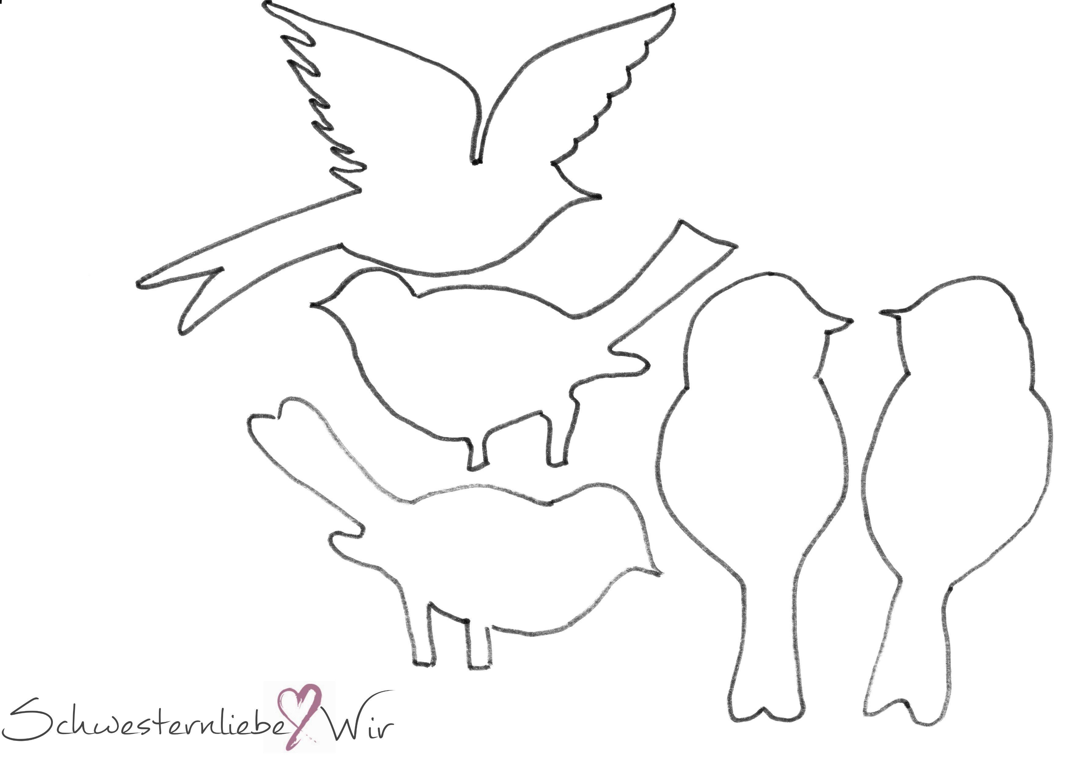 druckvorlagevögeldrucken 3508×2480 pixel  basteln
