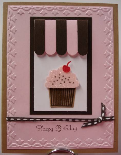 Making Cupcakes birthday cards For Ladies