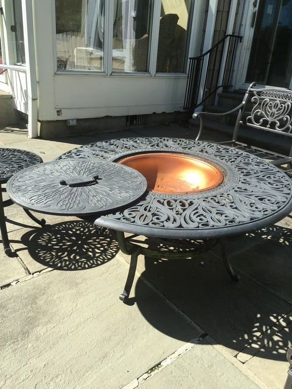 Outdoor Items Including Cast Iron Metal Outdoor Table Chairs And