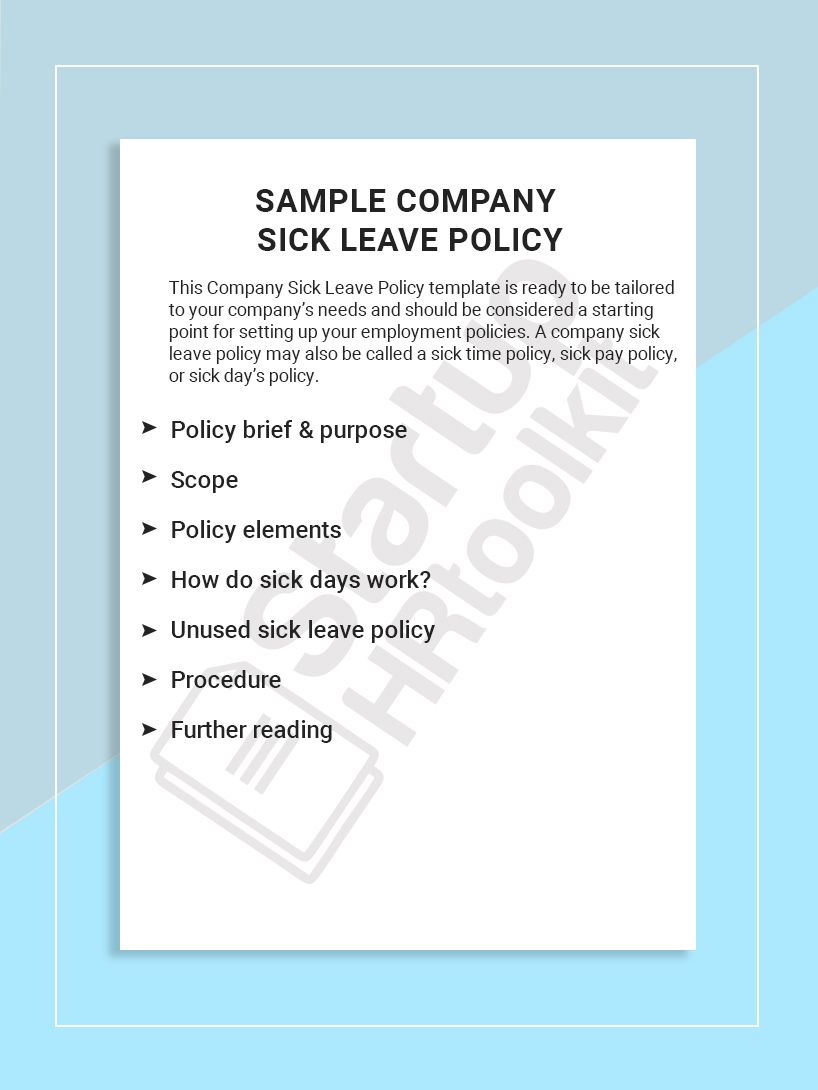 This Company Sick Leave Policy Template Is Ready To Be Tailored To