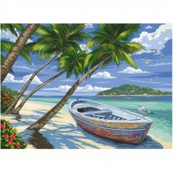 Tropical Beach Large Paint By Numbers