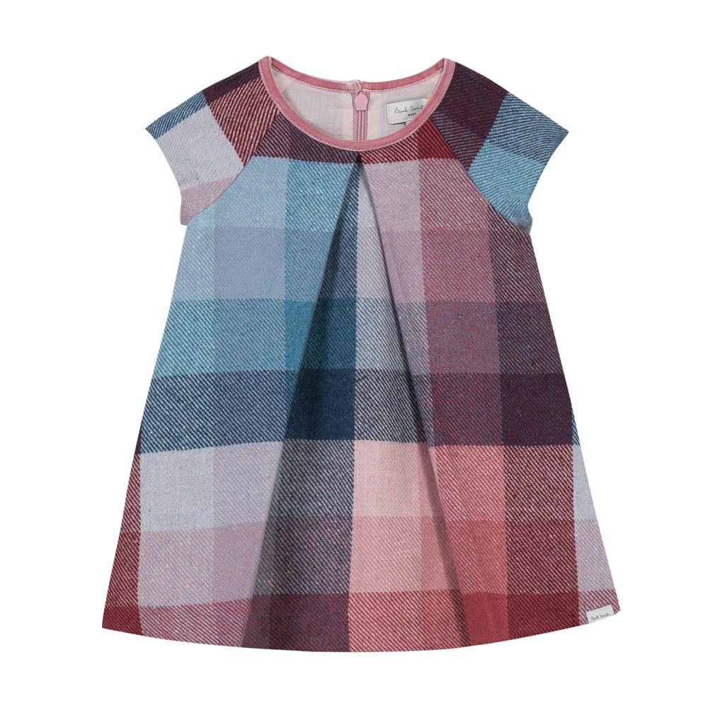 Baby pink dungaree dress  Checked Marabel Dress Mauve  Dresses Mauve and Paul smith