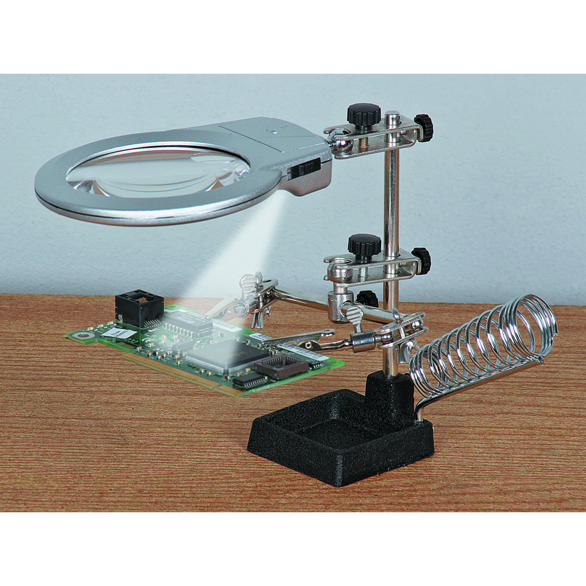 Jumbo Helping Hands With Led Lights Led Lights Magnifying Glass Magnifier