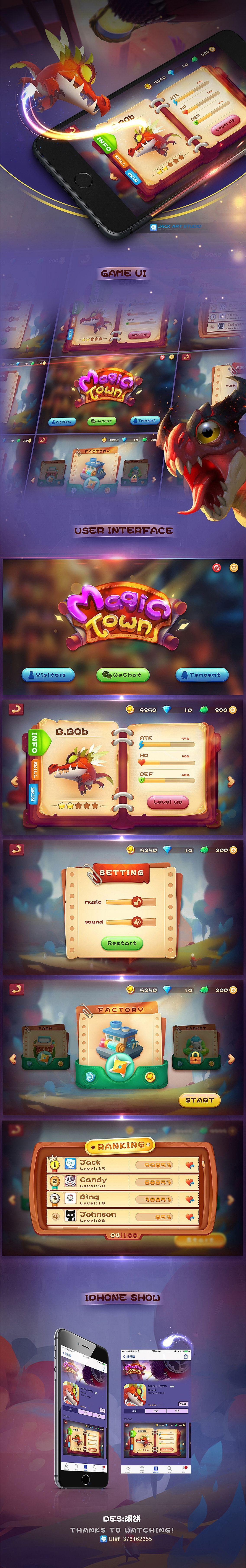 Jack art studio gui,游戏ui交流q群:425869838 on Behance Game