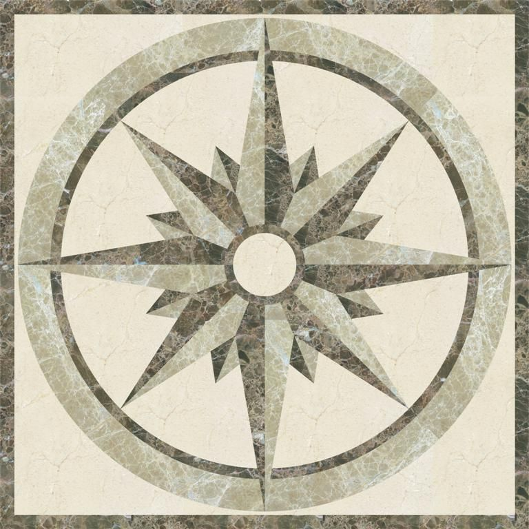 Decorative Tile Medallions Marble Water Jet Square Available From Wwwatmarbledesign