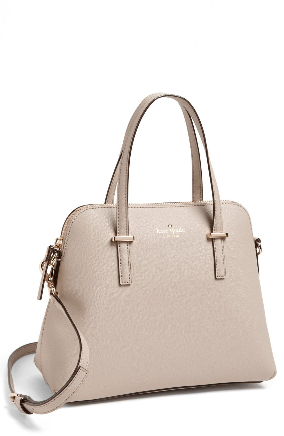 This Pretty Beige Kate Spade Satchel Is Going On The Wishlist
