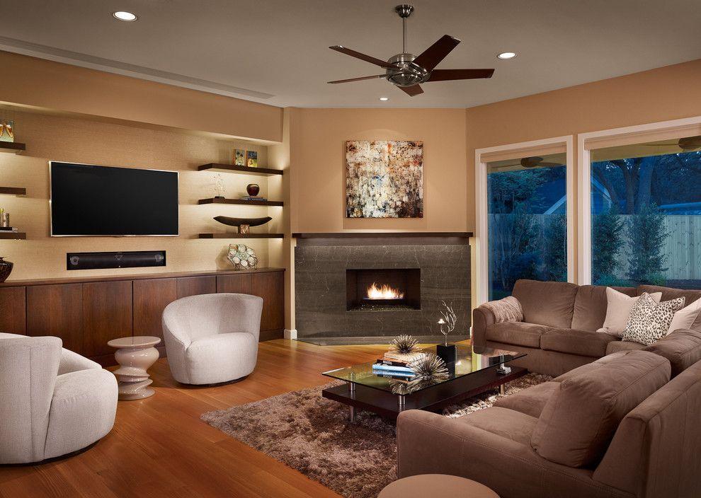 Room Corner Fireplace Tv