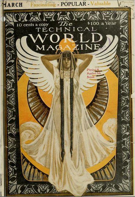 Art Nouveau - Technical World Magazine Cover - March 1906