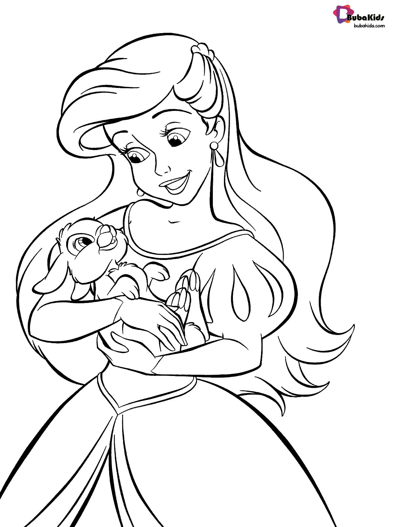 Princess Ariel Disney S Little Mermaid Coloring Page Collection Of Cartoon Colo Disney Princess Coloring Pages Ariel Coloring Pages Free Disney Coloring Pages