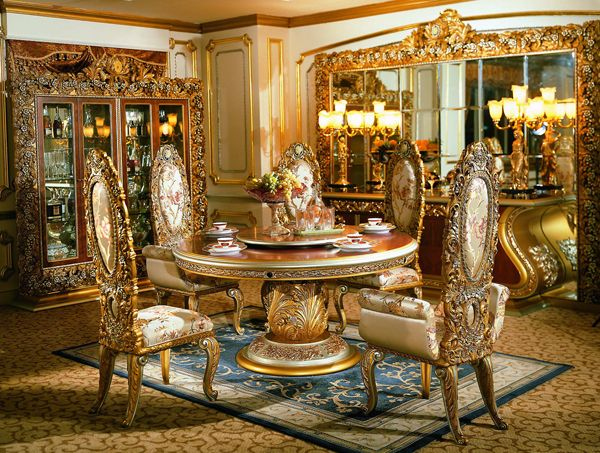 Italian Furniture - Phoebe Round Table Italian Dining Room ...