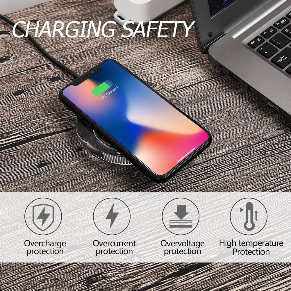 Fast Wireless Charger, ANGELIOX 10W Wireless Charging Pad Quick