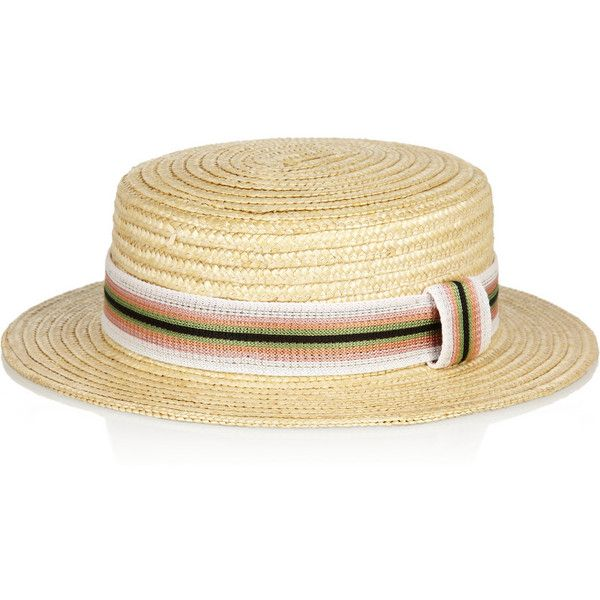 Missoni Straw boater ($160) ❤ liked on Polyvore featuring accessories, hats, missoni, neutral, sunhats, beach hat, straw hat, sun hat and striped sun hat