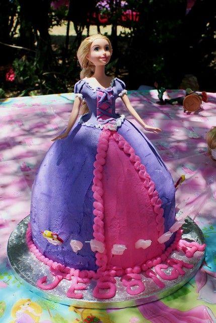 Jessica's 4th birthday Tangled buttercream cake