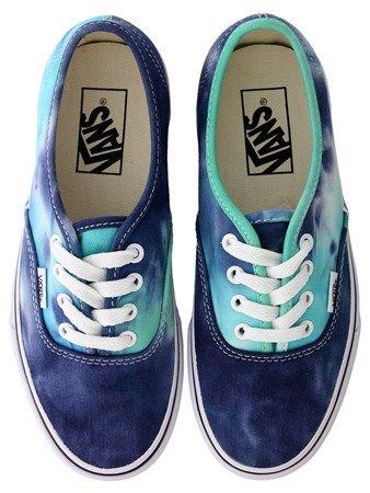 Buy Vans Navy Tie-Dye Authentic Trainers | Oneposter.com | UK Store