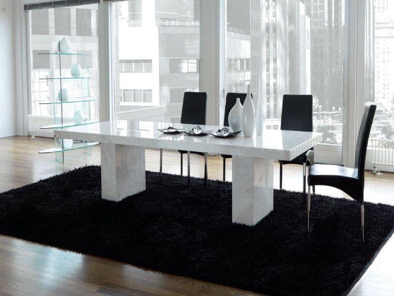 Mesa moderna / de mármol / de interior QUASAR : TAV029 unico italia ...