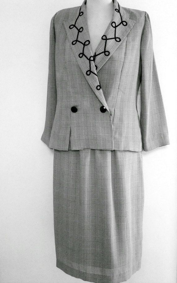 Leslie Fay Collection, Skirt Suit, Plaid Skirt Suit, Check Gingham ...