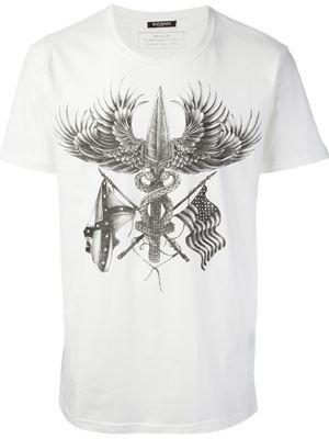 a71ca1cc418 BALMAIN american print T-shirt £262 sale £144 Balmain - Men's Designer  Clothing - Farfetch