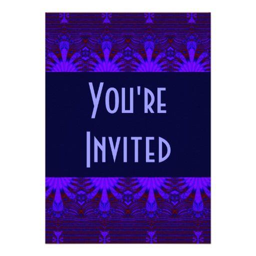 dark blue star abstract invitation