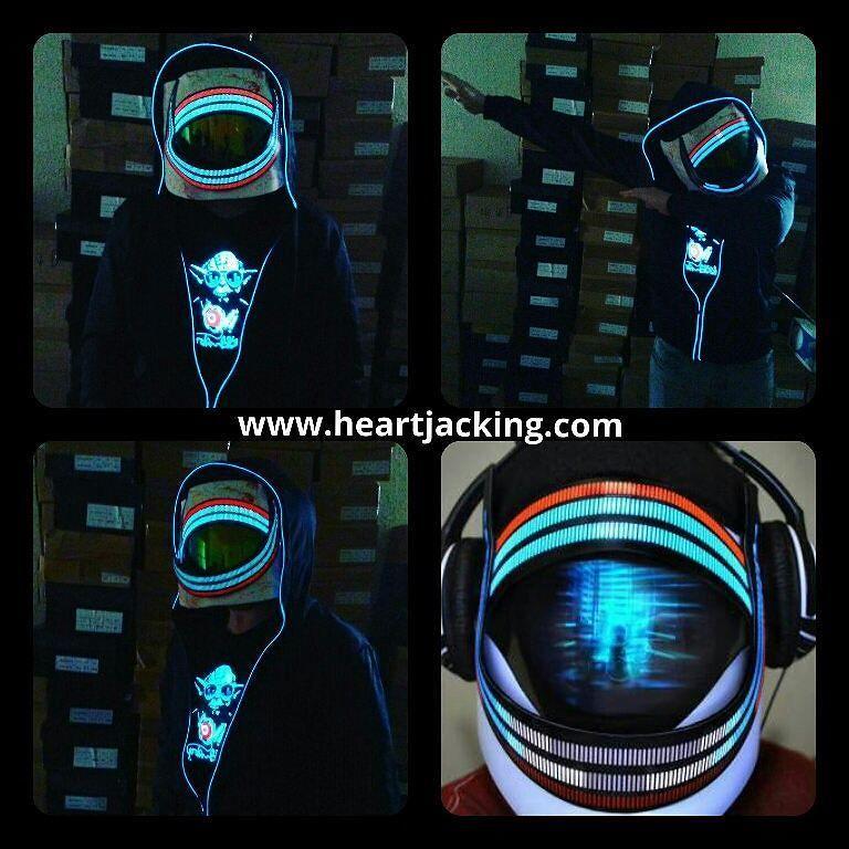 pingl par heart jacking sur masques lumineux casques led masque faire soi meme et. Black Bedroom Furniture Sets. Home Design Ideas