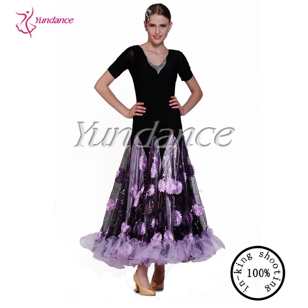 Click to buy ucuc new floral patterns for practicing new ballroom