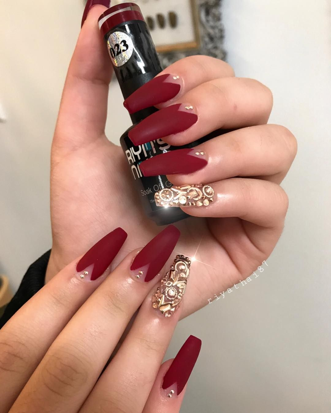 Christmas Nail Design Red Nail Designs Red Nails Glitter Nails