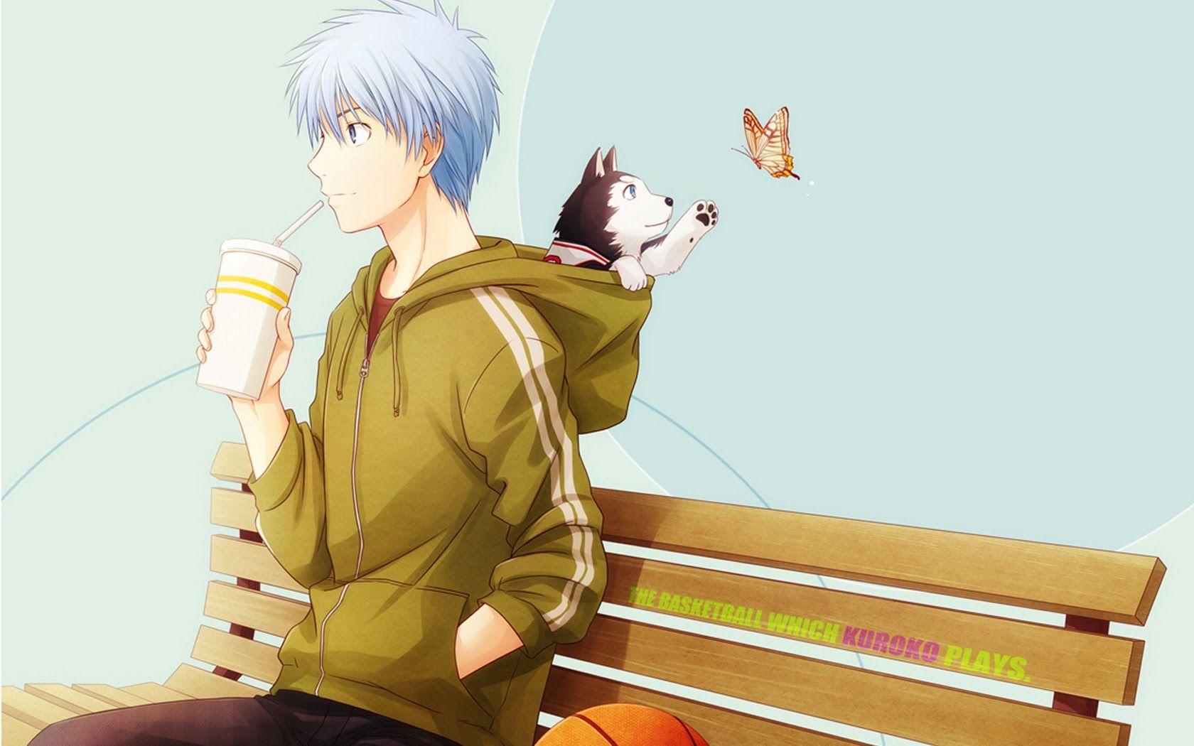 Kuroko no basuke anime wallpaper backgrounds httpwallucky tetsuya kuroko and number 2 dog kurokos basketball voltagebd Images