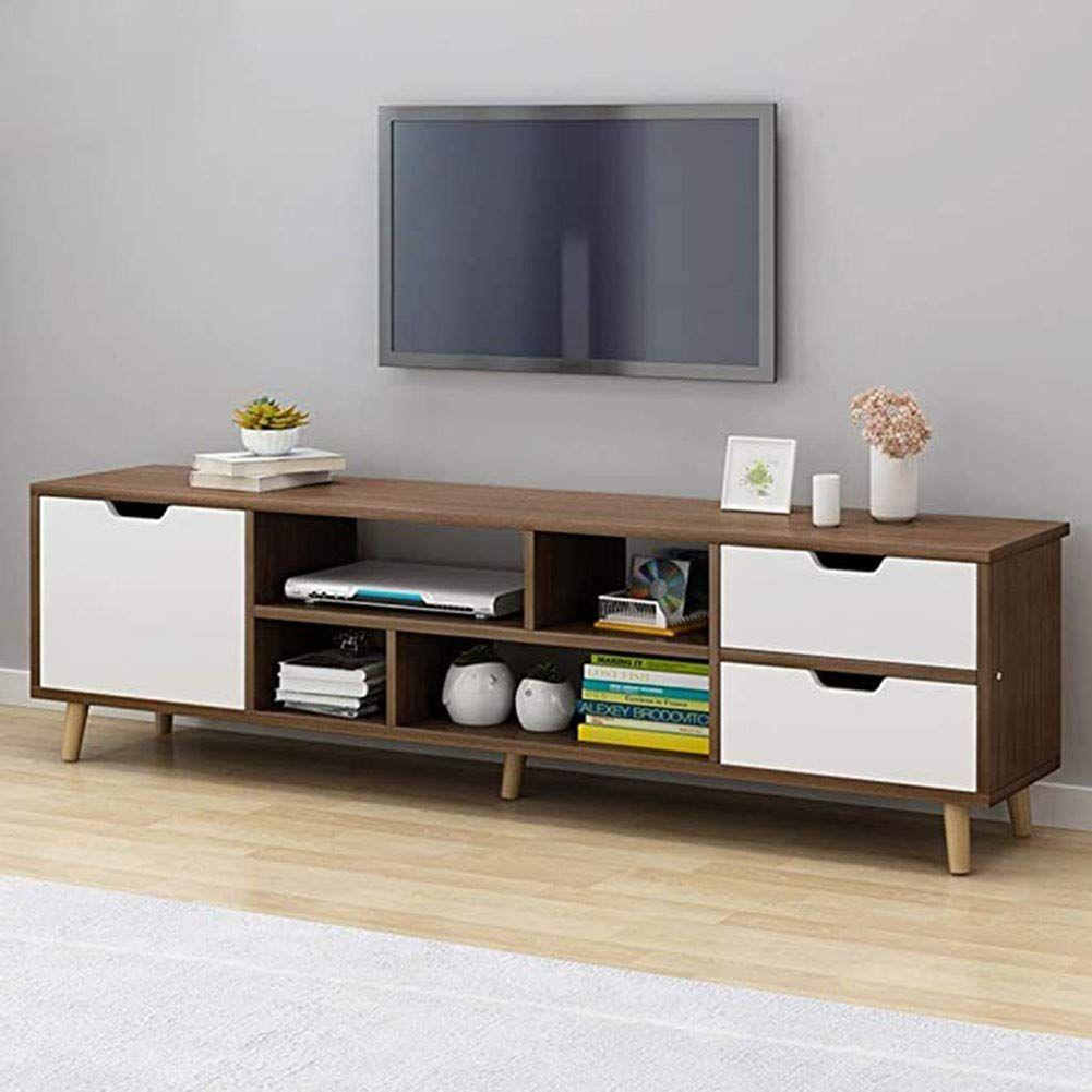 Sxfywj Mesa Television Con Ruedas Mueble Tv Pequeño Mesas De Madera Bajo Salon Barato Armario Cerezo Estrecho T Muebles Para Tv Muebles Muebles Para Television