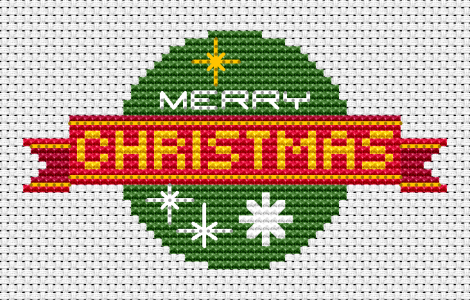 Free Cross Stitch Pattern For Making Christmas Cards With The Text