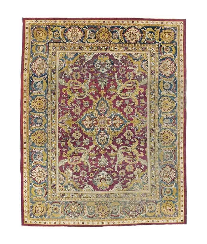 Amritsar Carpet North India Circa 1890 13ft 10in X 11ft 1in 422cm X 336cm North India Amritsar India