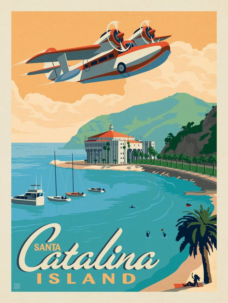 Santa Barbara Mission California America Vintage Travel Advertisement Poster