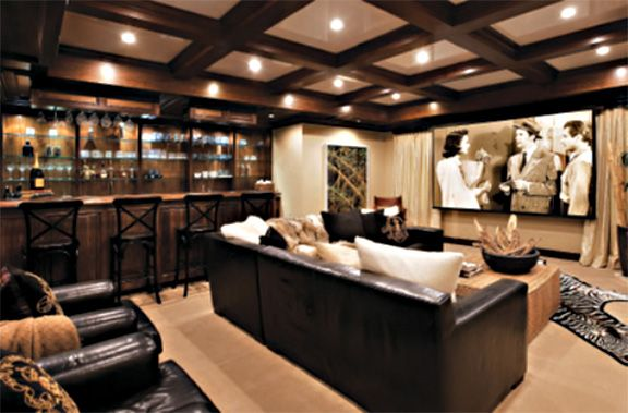 IMAX Home Theater Laurenu0027s Style Library Media Room Ideas
